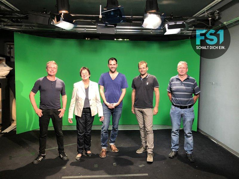 vlnr. Alf Altendorf (Kaufmännische Geschäftsführung FS1), Susanne Kurz (Obfrau IMB), Sebastian Linz (Künstlerische Geschäftsführung ARGEkultur), Wolfgang Stöger (Finanzreferent IMB), Michael Russ (Präsident Lebenshilfe)