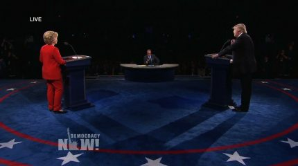 Democracy Now | Die TV-Debatte Clinton vs. Trump. Watch out.