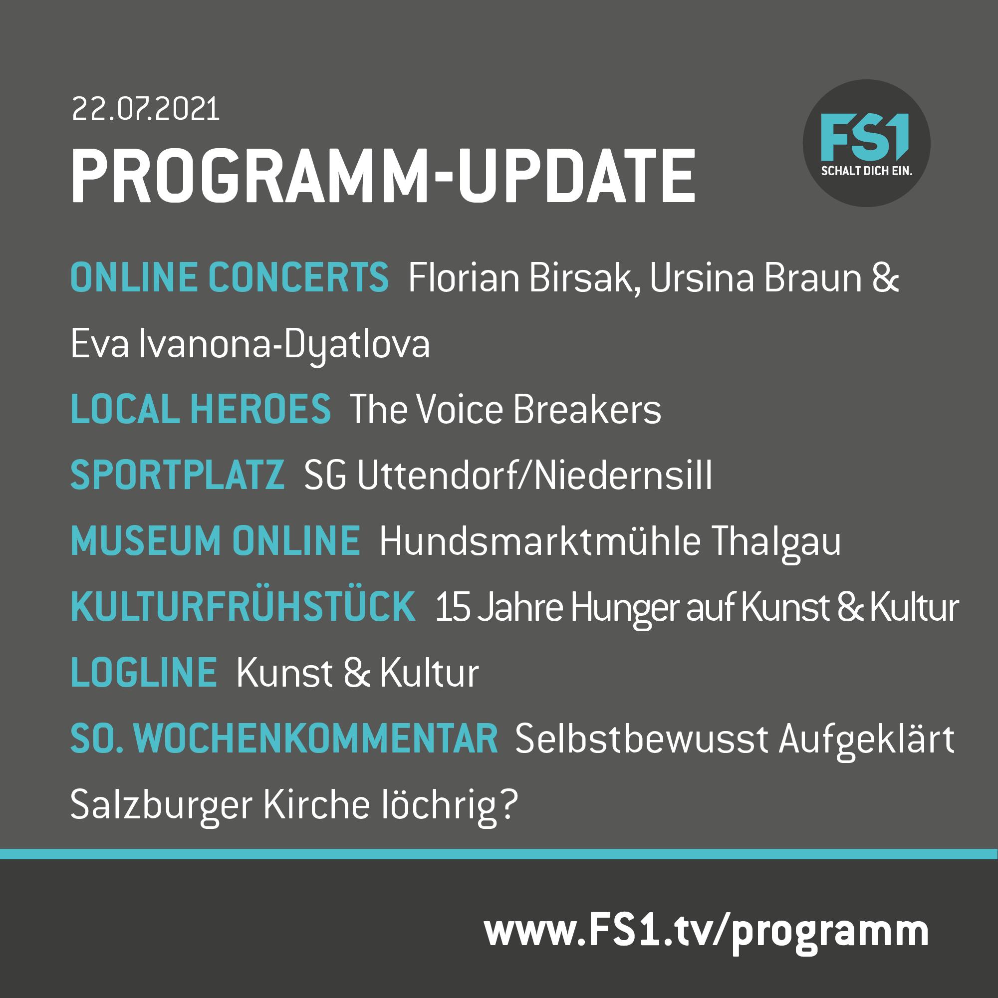 Programm-Update 22.07.