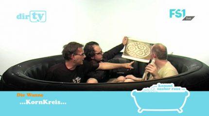 Neue Folge auf FS1: dirTV – Der Talk aus der Badewanne zum Phänomen Kornkreis um 9:05 und 17:05 Uhr im Programm