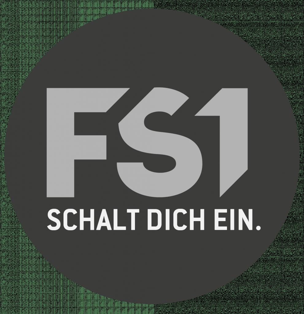 FS1 Logo RGB Claim Graustufen Transparent