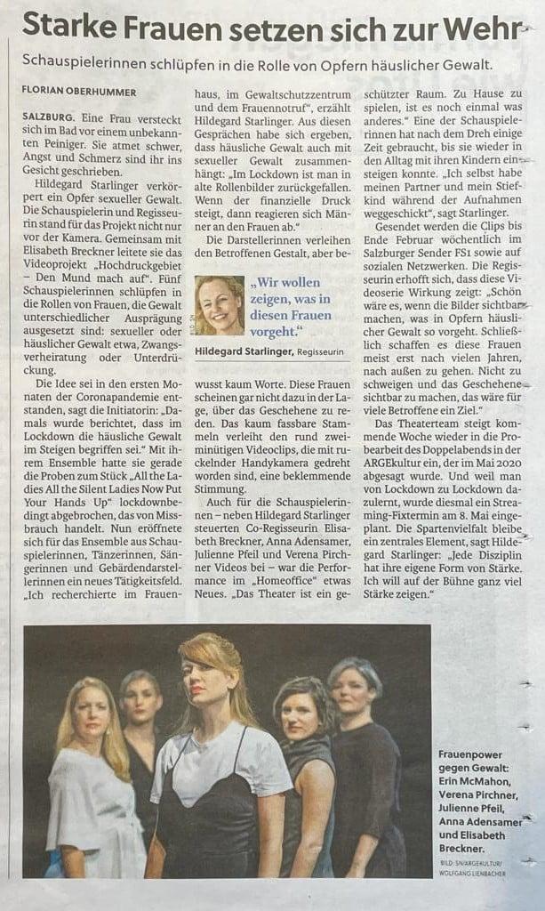 Berichterstattung Salzburger Nachrichten