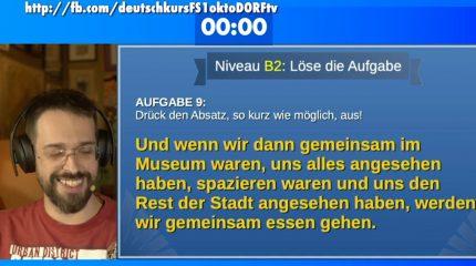 #deutschkursINTERAKTIV | jeden Montag LIVE auf FS1