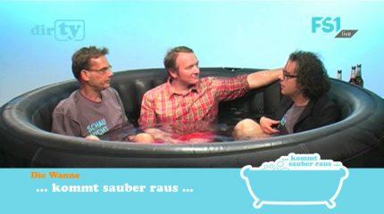 """Neue Folge auf FS1: """"dirTV – Talk aus der Badewanne"""" mit Wannengast Alexander Naringbauer immer um 9:00 und 19:00 Uhr im Programm"""