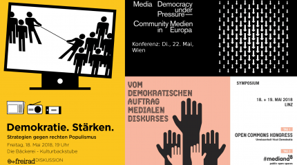 Medienpolitische Pfingsten: Drei Konferenzen der Community Medien