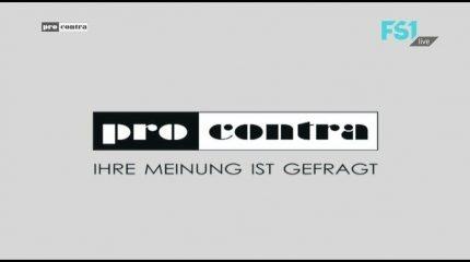 """Neue Sendung auf FS1: """"Pro&Contra"""" behandelt das Thema Nichtraucherdebatte immer um 9:00 und 19:00 Uhr im Programm"""