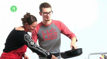 Die Studioküche diesmal mit Gastkoch Philip Rieder
