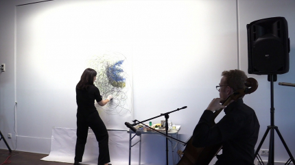 Astrid Rieder trans-Art - Andreas Tenschert im Café Shakespeare